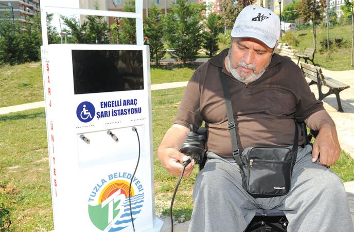 Akülü Engelli Araçları Şarj İstasyonları